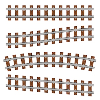 Ferrovia curva, binari diritti.