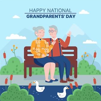 Festa dei nonni nazionali con coppia di anziani