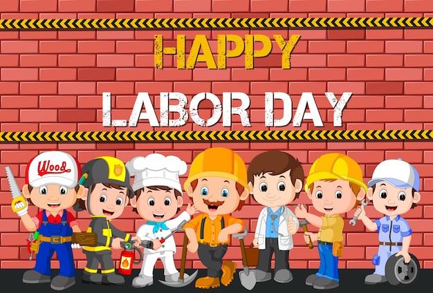 Festa del lavoro con differenza di occupazione delle persone
