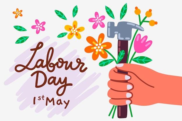 Festa del lavoro disegnata a mano