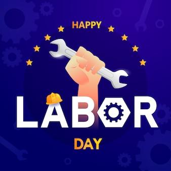 Festa del lavoro in banner modello america