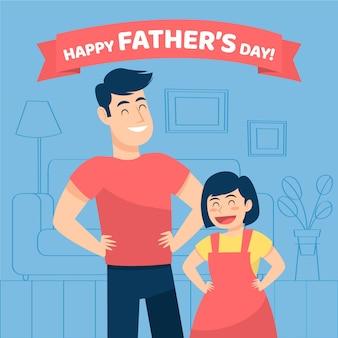 Festa del papà con papà e figlia