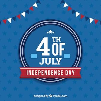 Festa dell'indipendenza americana con distintivo