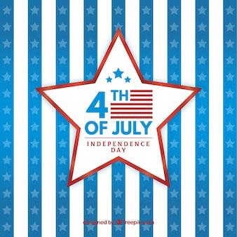 Festa dell'indipendenza americana con stella