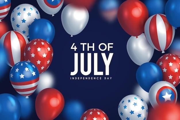 Festa dell'indipendenza degli stati uniti il 4 luglio sullo sfondo