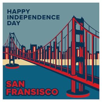 Festa dell'indipendenza dello sfondo degli stati uniti d'america