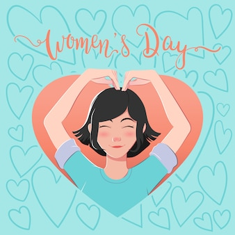 Festa della donna con illustrazione carina