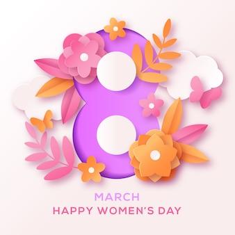 Festa della donna nel concetto di stile di carta