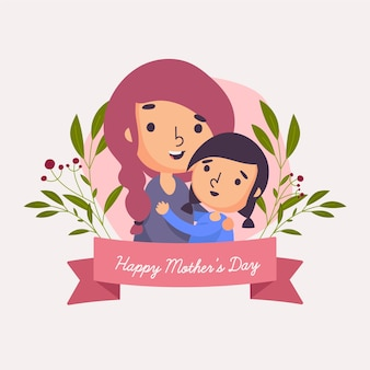 Festa della mamma con mamma e bambino