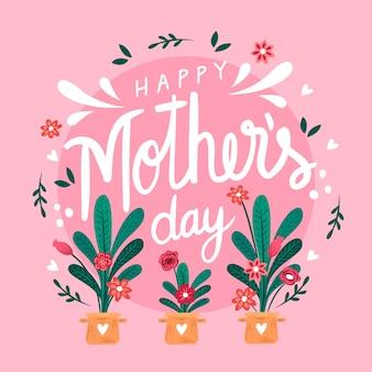 Festa della mamma disegnata a mano