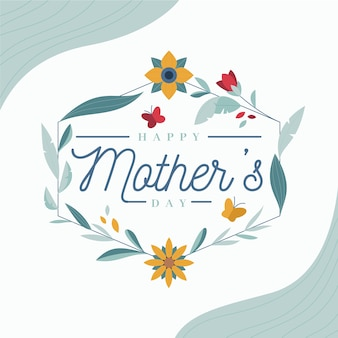 Festa della mamma disegno floreale