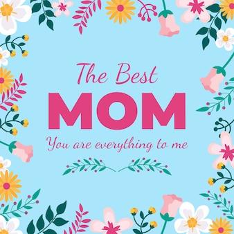Festa della mamma tema floreale