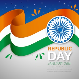 Festa della repubblica indiana in design piatto
