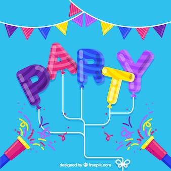 Festa di compleanno sfondo in colori vivaci
