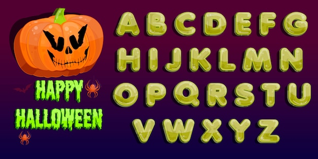 Festa di halloween. festa di jack o lantern. patch di zucca di halloween al chiaro di luna.