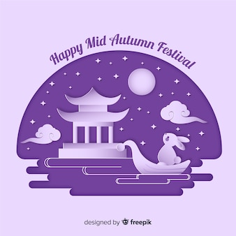 Festa di metà autunno disegnata a mano