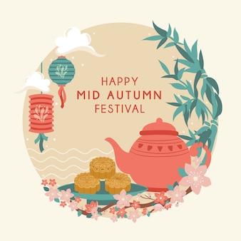 Festa di metà autunno. festival chuseok / hangawi.