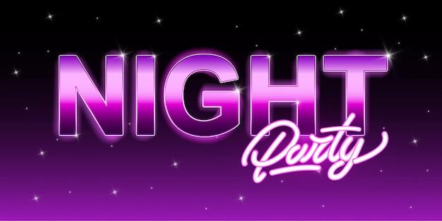 Festa di notte con lettering