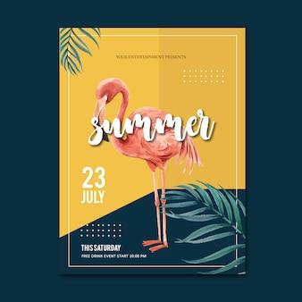 Festa di poster estate festa sulla natura del sole mare spiaggia.