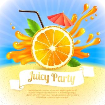 Festa di succo di arancia