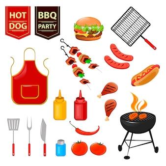 Festa estiva con barbecue