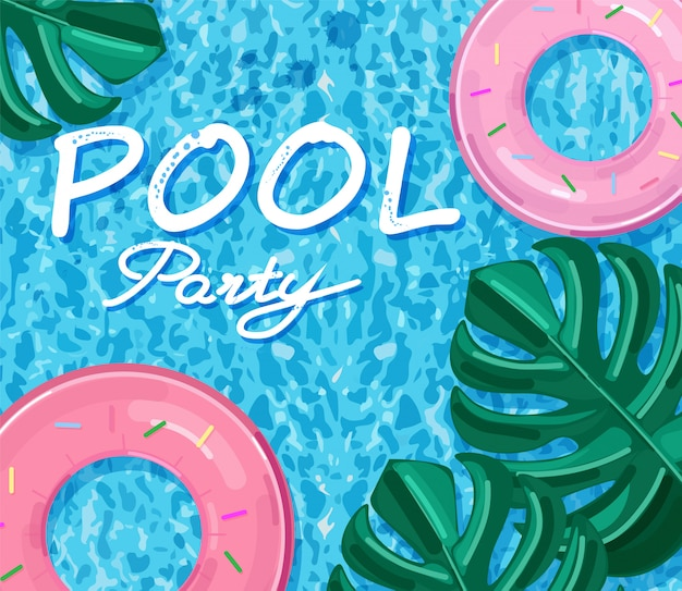 Festa in piscina estiva