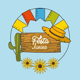 Festa junina con decorazioni design