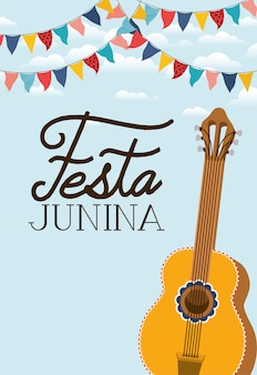 Festa junina con strumento per chitarra