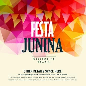 Festa junina festival june brasiliano sfondo colorato