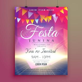 Festa junina invito design poster