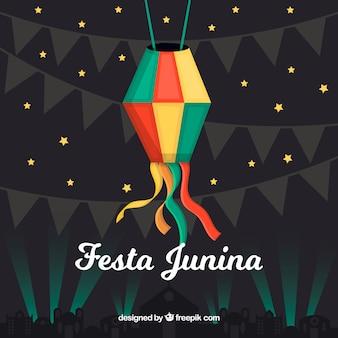 Festa junina notte sfondo design