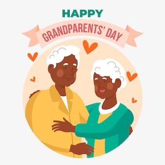 Festa nazionale dei nonni con coppia di anziani