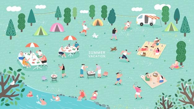 Festival del campo estivo.