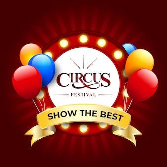 Festival del circo sullo sfondo