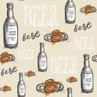Festival dell'oktoberfest del modello senza cuciture di vetro di birra