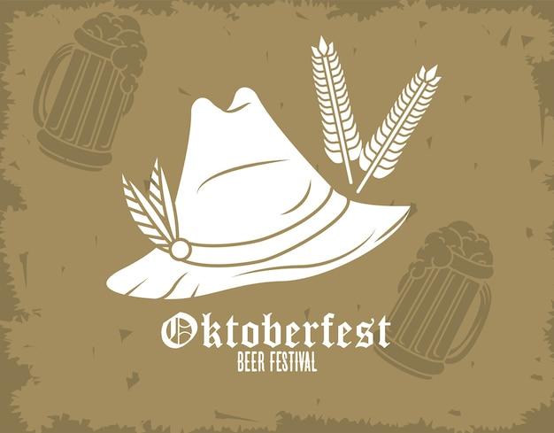 Festival di celebrazione dell'oktoberfest con cappello tirolese.