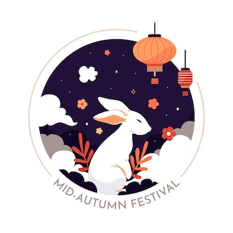 Festival di metà autunno design piatto