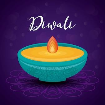 Festival diwali candela