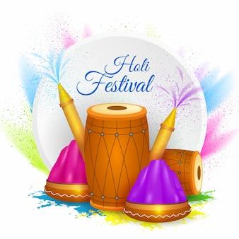 Festival holi realistico