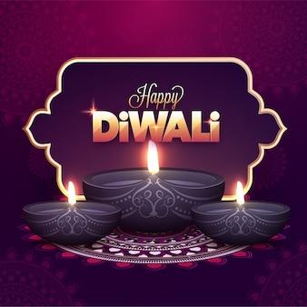 Festival indiano, concetto di diwali felice.