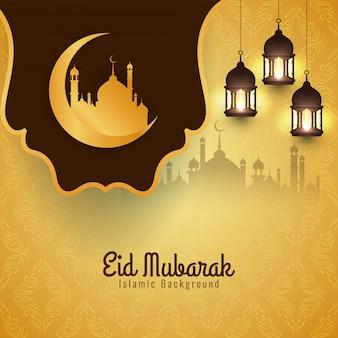 Festival islamico eid mubarak luminoso