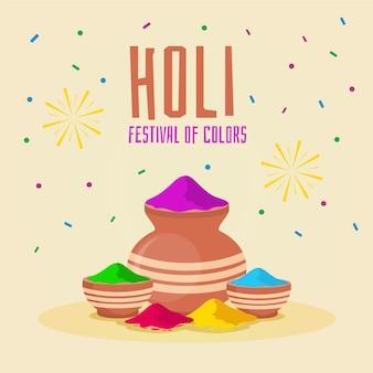 Festival piatto colorato holi gulal