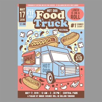Festival truck truck hot dog