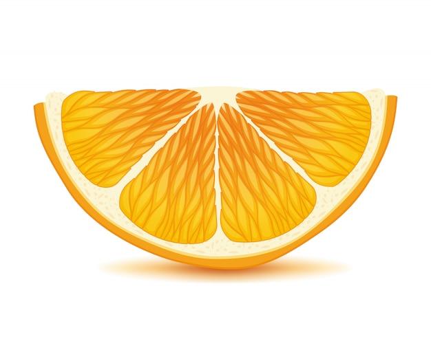 Fetta d'arancia. succosa illustrazione di agrumi.