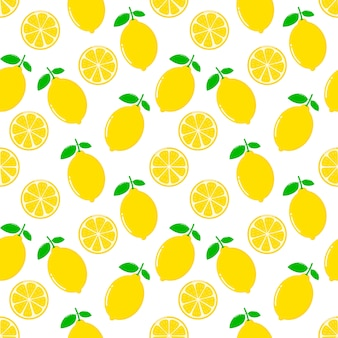 Fette di limone senza motivo