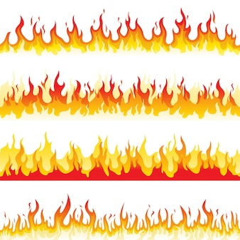 Fiamma del fuoco senza soluzione di continuità