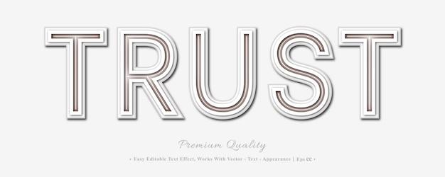 Fidati dell'effetto stile font 3d