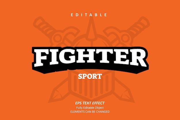 Fighter sport emblem text effect