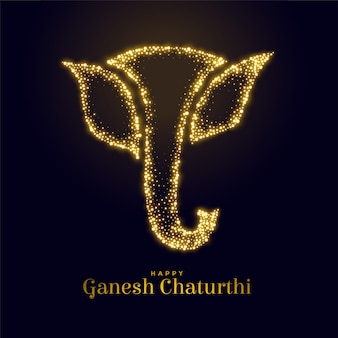 Figura scintillante del signore ganesha per ganesh mahotsav