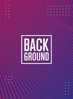 Figure e linee geometriche sfondo viola
